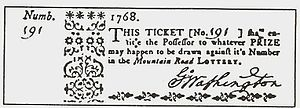 Mountain Road Lottery - Mountain Road Lottery Ticket 1768.