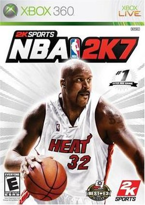 NBA 2K7 - Xbox 360 cover art featuring Shaquille O'Neal
