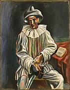 Pablo Picasso, 1918, Pierrot, oil on canvas, 92.7 x 73 cm, Museum of Modern Art.jpg