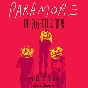 The Self-Titled Tour (Paramore) - Image: Paramore paramore tour