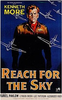 <i>Reach for the Sky</i> 1956 British biographical film about aviator Douglas Bader directed by Lewis Gilbert