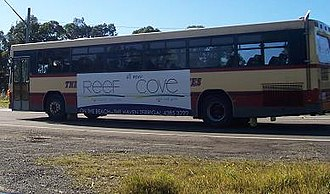 Bateau Bay, New South Wales - Red Bus on The Entrance Road