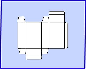 Carton - Typical blank for folding carton