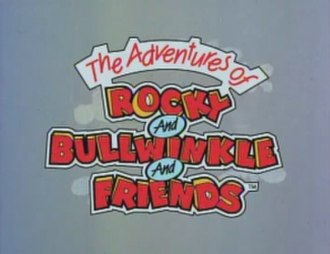 The Adventures of Rocky and Bullwinkle and Friends - Rocky and Bullwinkle intro card from the official DVDs