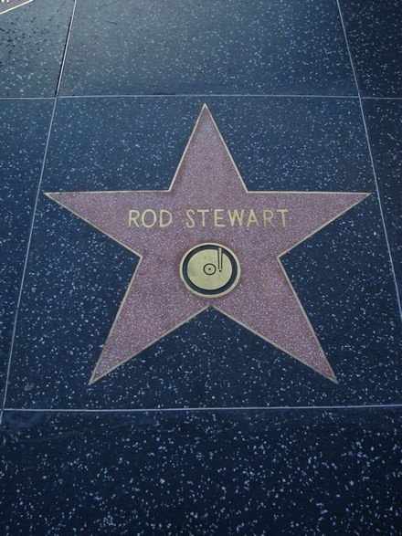 Stewart's star on the Hollywood Walk of Fame Rod Star.JPG