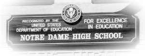 Notre Dame High School for Girls - Image: School Sign