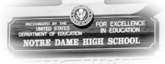 Notre Dame High School for Girls - Image: School Sign