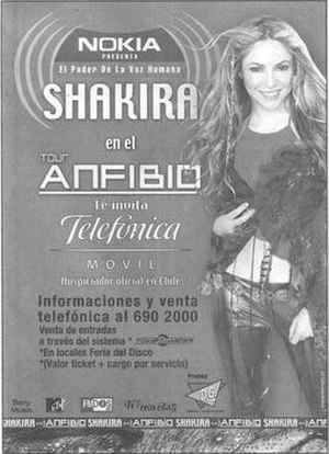 Tour Anfibio - Promotional poster for the tour in Chile
