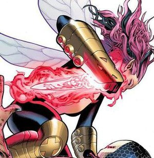 Pixie (X-Men) - Pixie brandishing the upgraded Souldagger. Art by Greg Land.