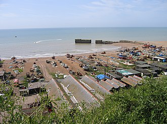 The Stade - The Stade as seen from Hastings East Hill