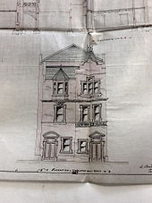 Proposed elevation facing Stapleton Hall Road, c.1895