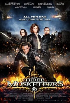The Three Musketeers (2011 film) - Promotional film poster