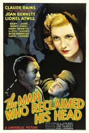 The Man Who Reclaimed His Head - Theatrical release poster