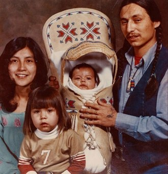 Shoshone - Tina Manning (left), John Trudell, and their children