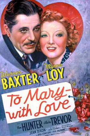 To Mary - with Love - Theatrical release poster