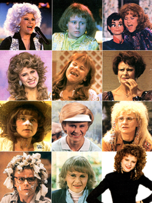 The Tracey Ullman Show - Some of the characters played by Tracey Ullman.