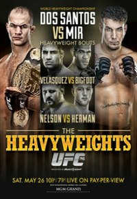 A poster or logo for UFC 146: dos Santos vs. Mir.