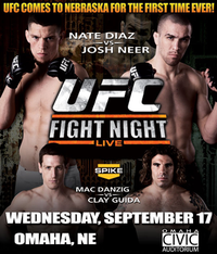 A poster or logo for UFC Fight Night: Diaz vs. Neer.