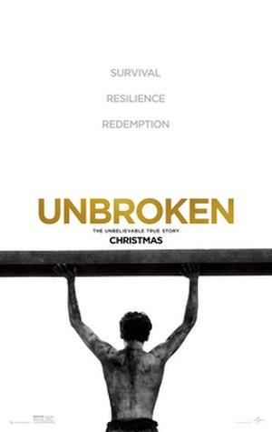 Unbroken (film) - Theatrical release poster