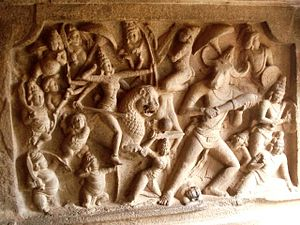 Tamils - The Varaha cave bas relief at Mahabalipuram from 7th century AD