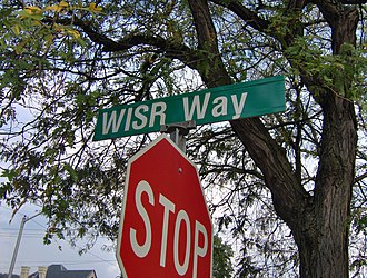 WISR - WISR Way, an alley that runs from North Main Street and along the side of the former station building for two city blocks.
