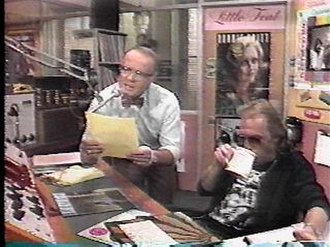 WKRP in Cincinnati - Les Nessman (Richard Sanders) and Johnny Fever (Howard Hesseman) in the studio