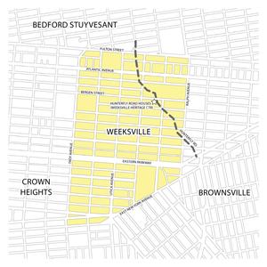 Weeksville, Brooklyn - Map of Weeksville