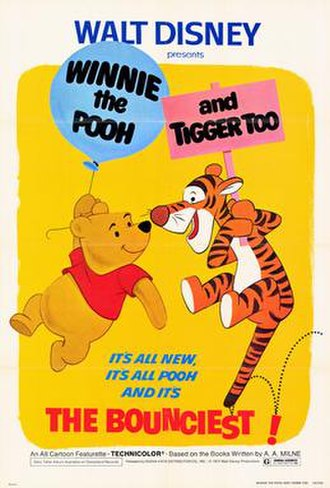 Winnie the Pooh and Tigger Too - One of theatrical release posters