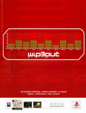 The Designers Republic - Part of a series of posters for the third Wipeout game Wip3out, design by TDR, 1999.