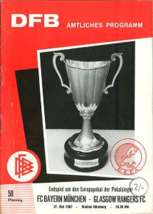 1967 European Cup Winners' Cup Final - Image: 1967 European Cup Winners' Cup Final programme