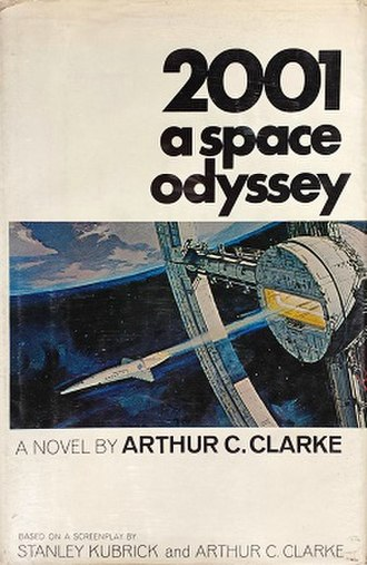2001: A Space Odyssey (novel) - Cover of the first American edition