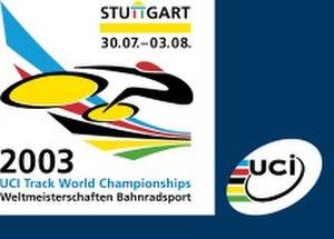 2003 UCI Track Cycling World Championships - Image: 2003 UCI Track Cycling World Championships logo