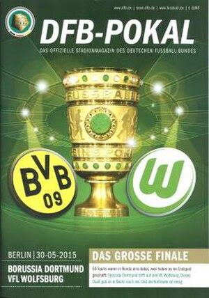 2015 DFB-Pokal Final - Image: 2015 DFB Pokal Final programme