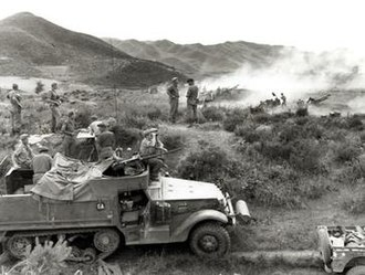 Canada in the Korean War - Canadian artillery during the Korean War