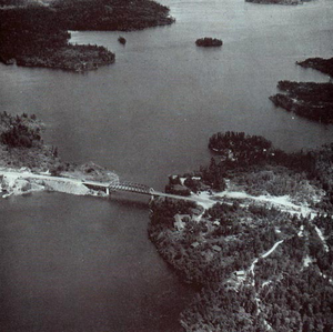 Ontario Highway 71 - Sioux Narrows Bridge in 1951