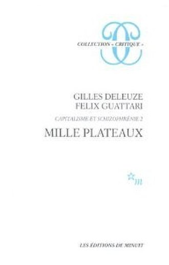 A Thousand Plateaus - Cover of the first edition
