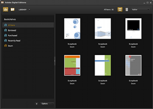 A screenshot of Adobe Digital Editions in libr...