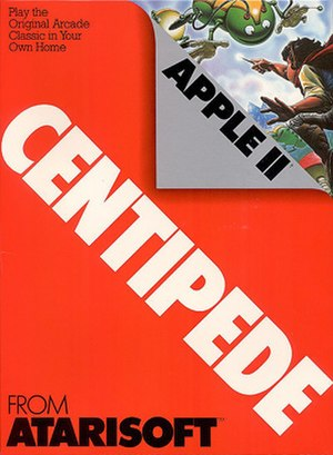 Atarisoft - Typical example of Atarisoft packaging. The predominantly red cover of Centipede corresponds to the Apple II format.