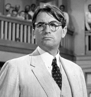 Atticus Finch - Gregory Peck as Atticus Finch, in the 1962 film adaption