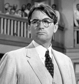Atticus Finch - Gregory Peck as Finch in the 1962 film adaptation