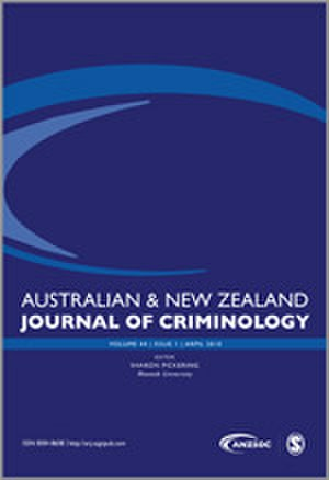 Australian and New Zealand Journal of Criminology - Image: Australian and New Zealand Journal of Criminology cover