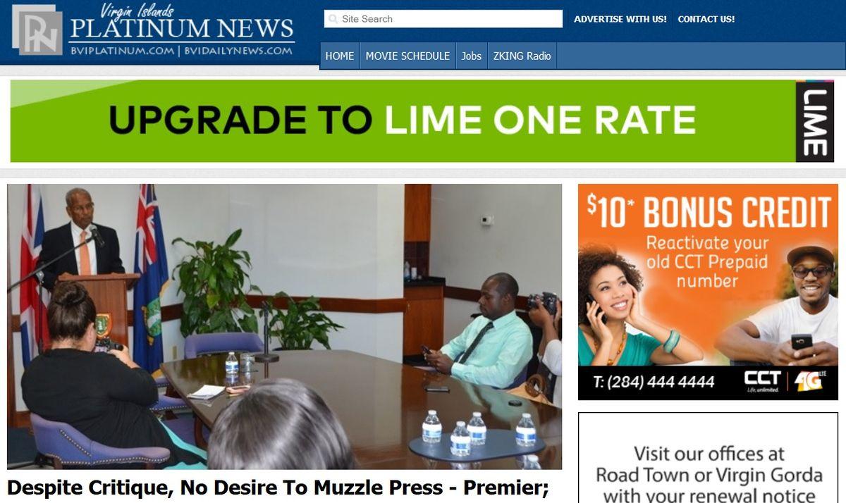 British Virgin Islands News Websites