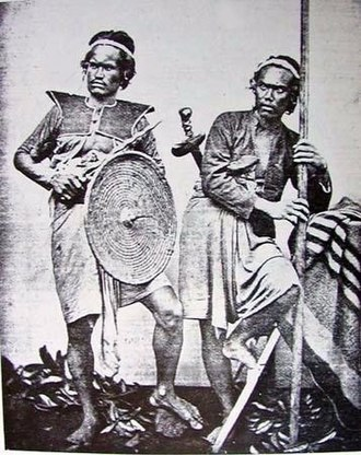 Pencak Silat - Balinese warriors armed with kris in the 1880s