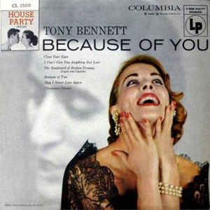 Because of You (Tony Bennett album) - Image: Because of You House Party