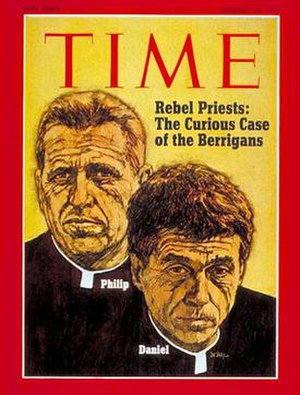 Me and Julio Down by the Schoolyard - Time Magazine cover featuring Berrigan