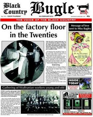 Black Country Bugle - Front cover of the Black Country Bugle's 9 February 2012 edition