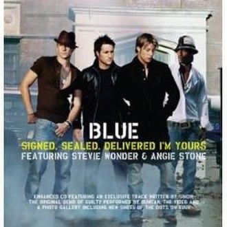 Signed, Sealed, Delivered I'm Yours - Image: Blue Signed Sealed