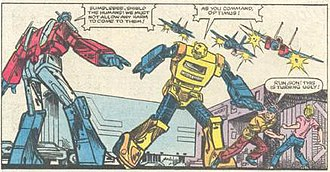The Transformers (Marvel Comics) - Early Marvel comic art work