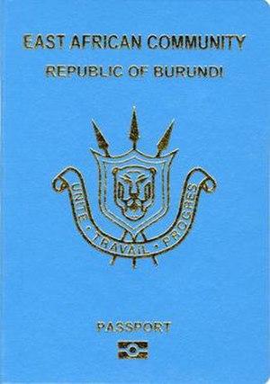 Burundian passport - Burundian passport front cover