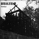 Photo of the burned ruins of Fantoft stave church depicted on Burzum's 1992 EP Aske.